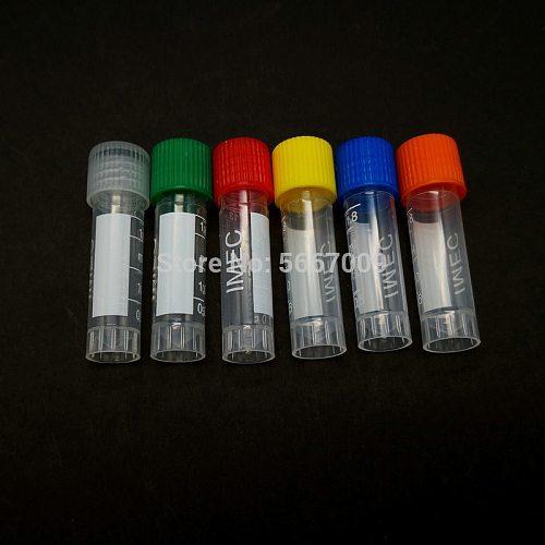 50pcs 1.8ml Graduated Lab Plastic Freezing Tube Cryo Preservative Tube Sample Cryovial With Cover
