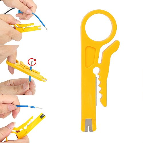 NICEYARD Mini Portable Pocket Crimper Plier Wire Stripper Knife  Cable Stripping Wire Cutter Crimping Tool