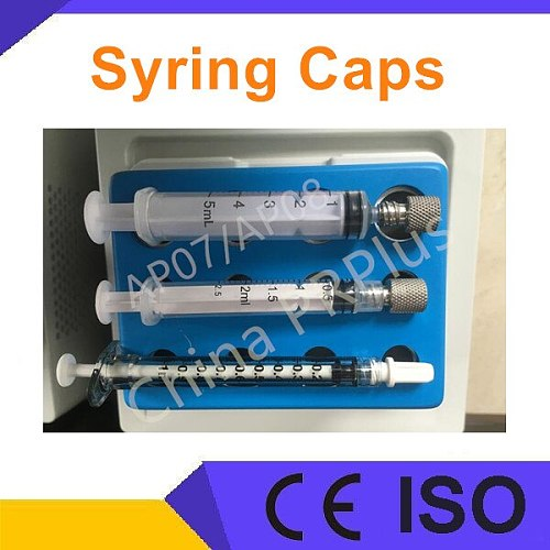 disposable or Metal syringe cap for ppp prp plasma Gel maker Portable bio filler machine