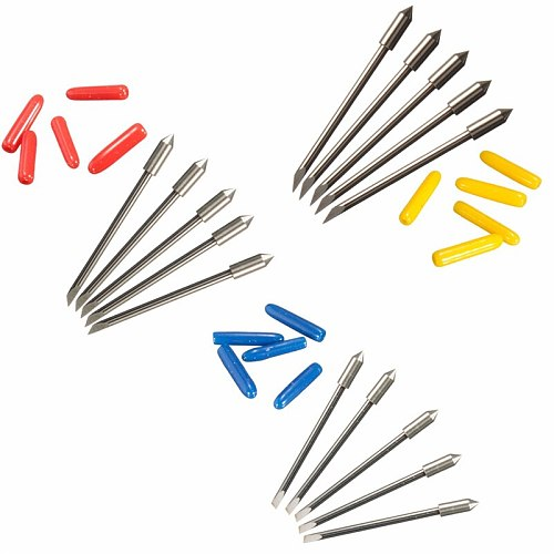 KZTech 50PCS Cb09 Blade for Graphtec CB09U Silhouette Cameo Craftrobo Blades Vinyl Cutter Plotter Knife 30 45 60 Degree 19mm
