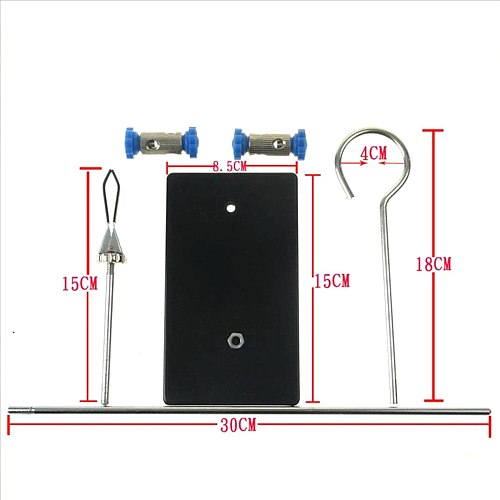 Portable 30cm retort stand iron stand with clamp clip laboratory ring stand educational equipment flask clamp