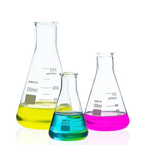 2Pcs/Lot High Quality Laboratory Large Conical Flask Glass Conical Flask 50ml-1000ml Glass Conical Beaker