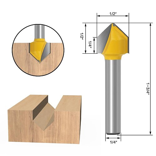 1PC 1/4 Inch Shank Woodworking Router Bit 6.35mm Shank Wood Cutting Milling Cutter Tools