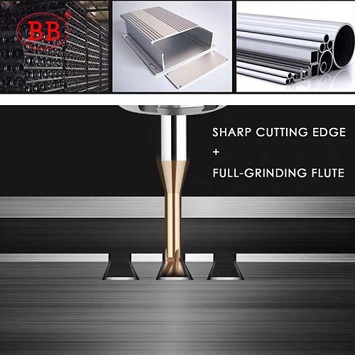 BB Carbide Dovetail Milling Cutter CNC Tool 45 60 75 Degree 6mm 5mm 8mm 10mm 12mm Tungsten Steel Machining Tool for Metal