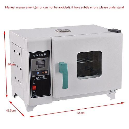 16L 2 Layer Electric Constant Temperature Drying Oven Laboratory Industrial Digital Drying Cabinet Oven Food Dryer 500W 220V