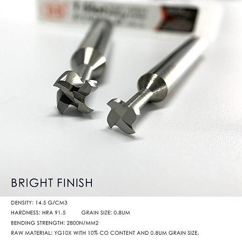 Carbide T Slot Milling Cutter CNC Tool 3mm 4mm 6mm 8mm 10mm 12mm