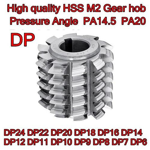 DP6 DP7 DP8 DP9 DP10 DP11 DP12 DP14 DP16 DP18 DP20 DP22 DP24 Pressure Angle PA14.5 PA20High quality HSS M2 Gear hob