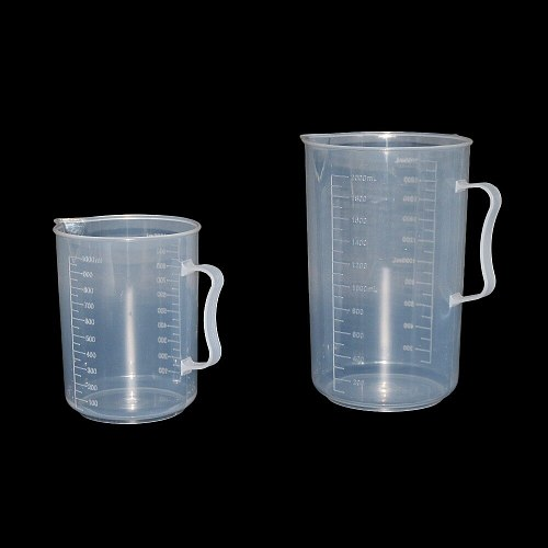 250/500/1000/2000ml Transparent Kitchen Laboratory Plastic Measuring Cup Graduated Volumetric Container Tool 1 Pcs