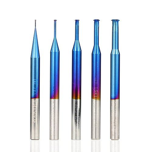 XCAN 1pc P0.25-P0.8 Nano Blue Coated Thread Mills Tungsten Carbide Single Thread Milling Cutter