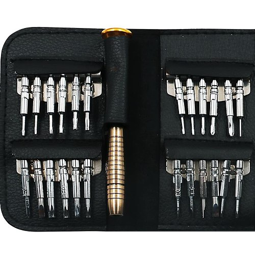 New Mini Precision Screwdriver Tool Set 25 in 1 Screwdriver Set Replacement for PC Glasses Mobile Phone Laptop Watch