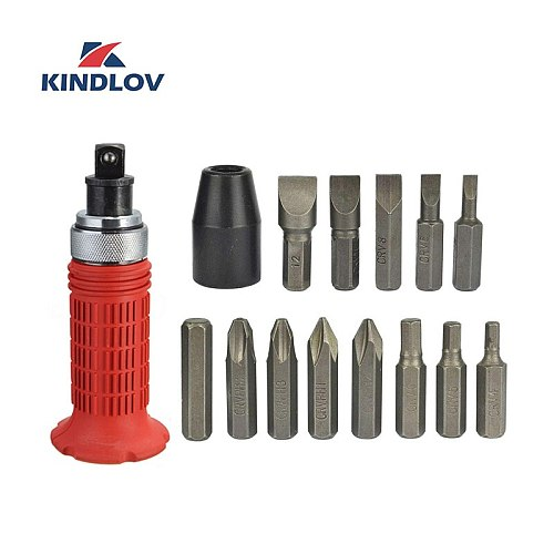 KINDLOV Screwdriver Set Impact Bits 14 In 1 Parafusadeira Precision 1/4 Torx Hex Kit Magnetic Screw Driver Multitools Hand Tools