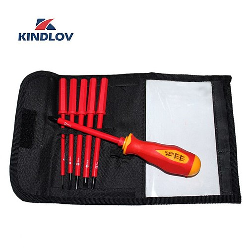 KINDLOV Screwdriver Set Insulated 7 In 1 Torx Philiips Destornillador Magnetic Screw Driver Precision Handle Bit Kit Hand Tools