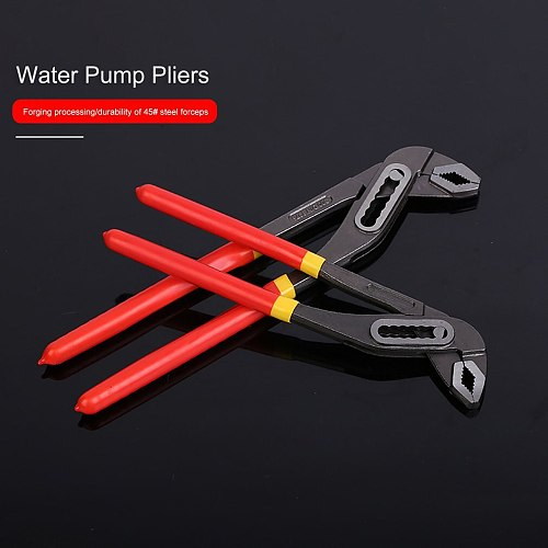 10Inch/12Inch Water Pump Pliers Quick-release Plumbing Pliers Havy Duty Straight Jaw Groove Joint Plier Manual Tools