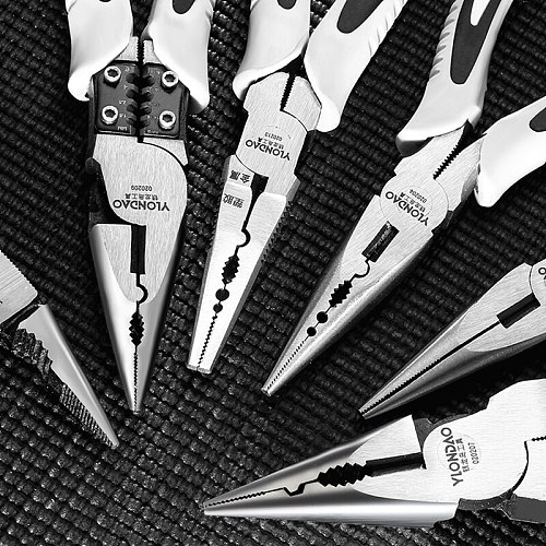DTBD Multifunction Set Tools Wire Pliers Cutter Stripper Crimper Needle Nose Nipper Wire Stripping Crimping Hand Tools