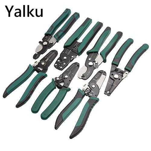 Yalku Cable Wire Stripper Crimping Pliers Crimper Tools Pliers Hand Tools Wire Stripper Multifuction Crimper Pliers Wire