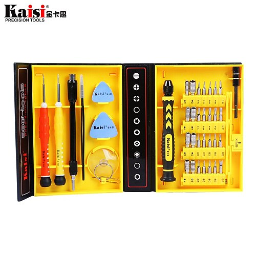 Kaisi 38 in 1 Magnetic Screwdriver Set Repair Tool Kit for iPhone/Computer/iPad/Samsung Galaxy/eye glasses/Household screwdriver