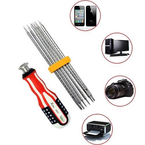 1 Set 6-in-1 replaceable telescopic screwdriver set tool hardware tool  replaceable telescopic screwdriver
