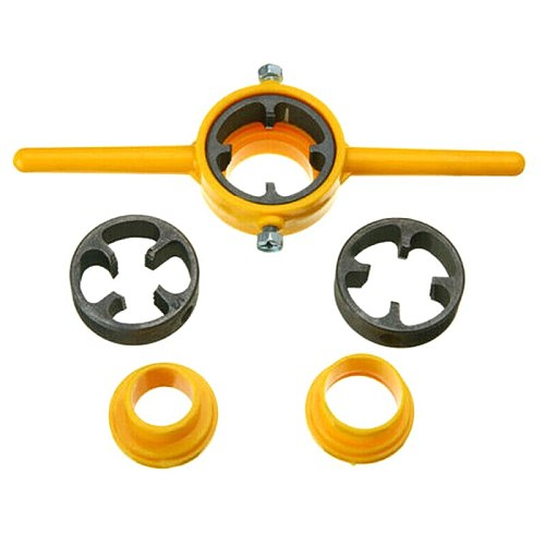 PVC Thread Maker Yellow Pipe Threader Tool Set 1/2  3/4  1  NPT Tube UD88