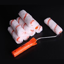 4 Inch Decoration Tool Brush Wall Small Roller Brush Polyester Paint Roller Brush Set