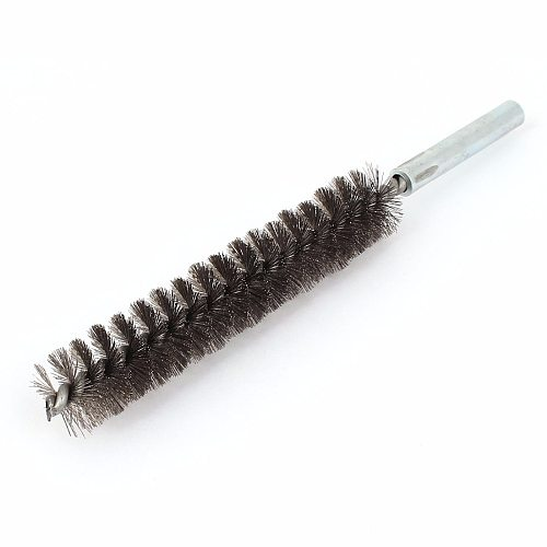 UXCELL 17cm Length 20mm Dia Stainless Steel Metal Wire Tube Cleaning Brush Steel Tube Wire Very Flexible Convenient Use 20x170mm