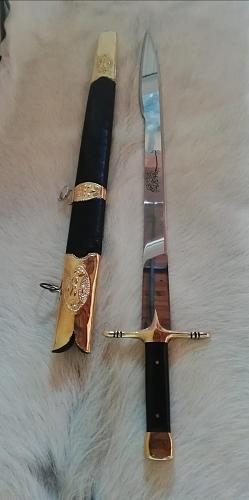 Handmade Forged Steel Yatagan Classical Sword,Walnut Handle,Claymore, Glaive ,4mm,Blade,Saber,Personalized Design,Gift,Knife