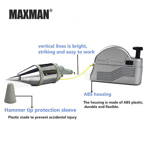 MAXMMAXMAN 3m Automatic Plumb Bob Magnetic Hanging Wire Hammer Verticality Measurement  Hand DIY Tools Magnetism