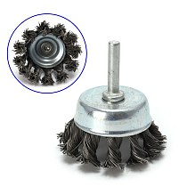 1 pcs  Metal Wire Wheel Cup Brush Crimped & 1/4 Shank For Die Grinder Drill Lot For Drill Angle Grinder Gadget Rotary Tool
