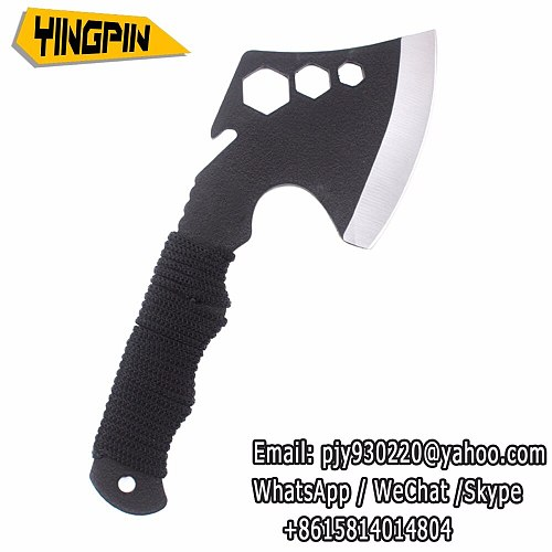 Multifunction Axe Outdoor Ax Survival Tomahawk Axe with Knife Whistle Camping Hand Fire Axe.