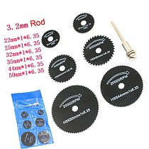 7 Pcs/ Set 3.2mm HSS Circular Saw Blade Cutting Disc Cut-Off Wheel For Rotary Tools Sets --M25