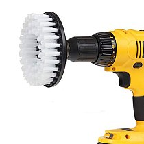 3PCS Electric Drill Brush Cleaning Carpet Tile Sink Mechanical Cleaning Plastic Wire Cleaning Kit Brush Tub Cleaner Tools Kit