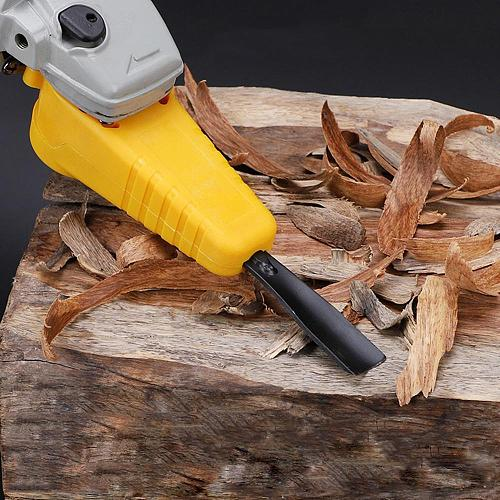 Wood Carve Electric Chisel Bracket M10 Adapter Set Changed 100 Angle Grinder Powerful Chisel Woodworking Tool