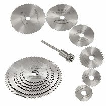 6 Pcs HSS Metal Circular Saw Disc Wheel Blades Cut Off Dremel Drill Rotary Tools Fine Precision Cuts For Small Cut Off Jobs