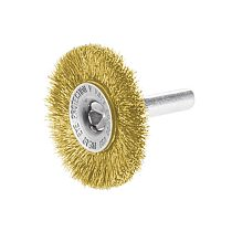 2  Crimped Steel Wire Wheel Brush 1/4 Inch Shank for Metal Rust Removal Polishing Brush Cutting Brush for Drill Rotary Tool