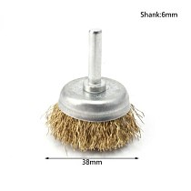 2 Pieces Set Clean Cleaning Rust Sanding Grinding Metalworking Drill Steel Wire Brushes Wheel Cup Metal Brush