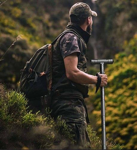 Multifunctional Tactical Trekking Pole Outdoor Camping Equipment Aluminium Alloy Telescopic Folding Trekking Pole Survival Tool