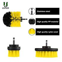 UNTIOR 5Pcs Electric Drill Brush Scrub Pads Grout Power Drills Scrubber Cleaning Brush Tub Kitchen FurnitureCleaner Tools Kit