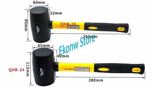 1pc high quality Rubber Installation Hammer Mallet For Wooden Floor Installation With Iron Handle Hand Tools