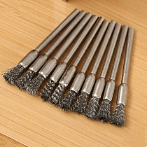 6PCS 3mm Rotary Steel Wire Wheel Brush Brushes Cup Tool Shank Grinder Drill Rust Weld