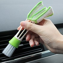 Double Head Keyboard Dust Collector car Air-condition Cleaner Computer Clean Tools Instrument dust brush Car cleaning accessorie