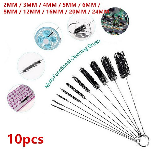 10pcs Metal Brass Pipe Tube Cylinder Bores Bottle Cleaning Brushes Wire Brush Wire Tube Cleaning Brush For Rust Removal Tools