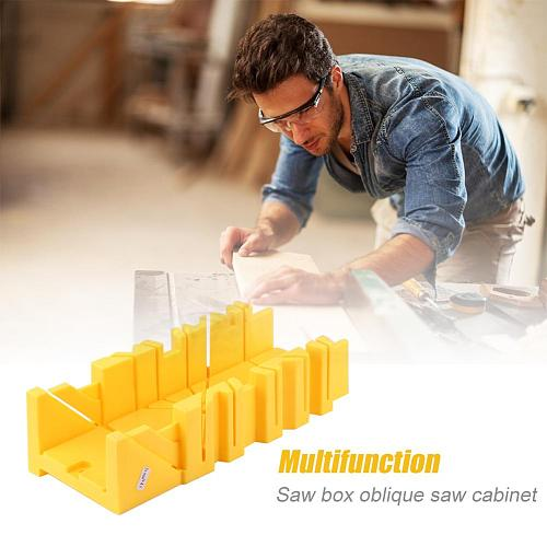 Multi-functional 45/90 Degree Angle Saw Box Oblique Sawing Cabinet Splicing Saw Boxes Fixed Screw Hole Device for Wooden Tile
