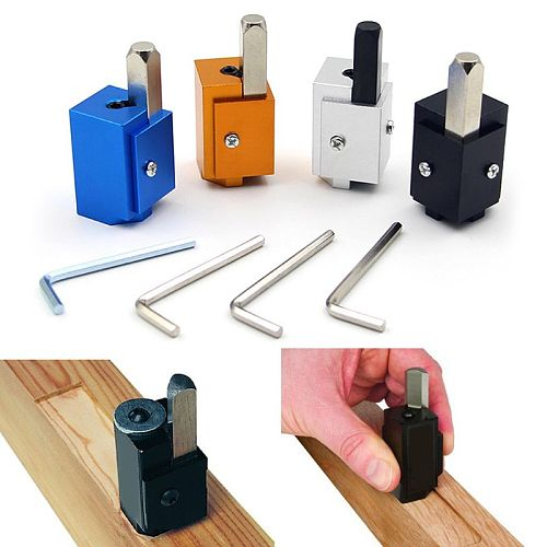Aluminum Allloy Corner Chisel Square Hinge Recesses Mortising Right Angle Wood Carving Chisel For Woodworking Tools