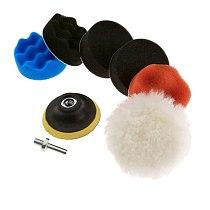 7 Piece Polishing Sponge Brush Flat Wavy Sponge Polishing Pad Set For Car Auto Buffing Pad Wiel Kit