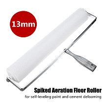 20 Inch Spiked Aeration Floor Roller Self Levelling Cement Defoaming Roller Screed Tools Accessories 13mm Home DIY Hand Tools