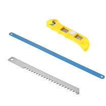Multifunction 10  3 In 1 Mini Saw Easy Release Aluminum Saw Hacksaw with Rubber Handle