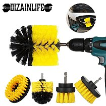Electric Drill Brush Kit Plastic Round Cleaning Brush Bathroom Surface Carpet Glass Car Polishing Tires Nylon Scrubber Drill