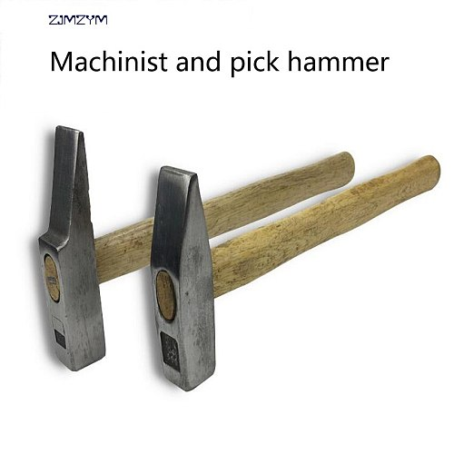 1PC High Quality Durable Construction Household machinist hammer and pick hammer Wooden handle Hammer Repair Hand Tool