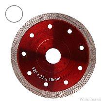 Red Pressed Sintered Mesh Turbo Ceramic Tile Granite Marble Diamond Saw Blade Cutting Disc Wheel Bore Tools O20 20 Dropshipping