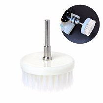 60mm White Nanowire + Plastic Soft Drill Powered Brush Head For Cleaning Car Carpet Bath Fabric New