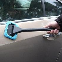Handy Auto Window Cleaner Microfiber Car Window Dust Fog Moisture Cleaner Wash Brush Windshield Towel Washable Car Cleaning Tool
